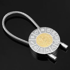 Capricorn Zodiac Key Ring Zodiac Signs Key Chain Holder | RnBJewellery