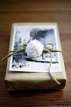 photo + pom wrapping