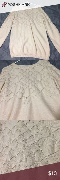 Cream knitted sweater Worn once size M/L Papaya Sweaters Crew & Scoop Necks