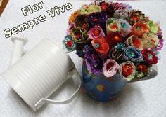 Diy - Flor Nº 7 - Sempre Viva com Tecido - Fácil - Como fazer - Faça você mesma - Graça Tristão