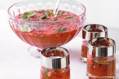 Holiday: Strawberry apple punch (non-alcoholic)