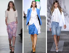 Spring 2013 Trend: Bermuda Shorts  (from Glamour mag):  The slouchy, cool-girl shorts that were all over the New York runways this season are perfect for every girl who never felt like she could pull off those cheek-baring cutoffs so beloved on Instagram (i.e., most of us). They're ultra chic, fam-friendly, and flattering; seriously, what's not to love?