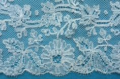 Mechlin, later 19th c. The naturalistic design and the use of half-stitch in the design is an indication of later 19th c.