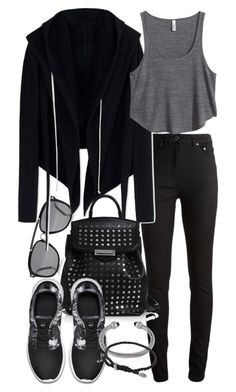"""Untitled #18700"" by florencia95 ❤ liked on Polyvore featuring Acne Studios, DRKSHDW, H&M, Alexander Wang, NIKE and David Yurman"
