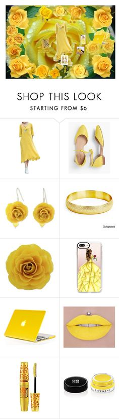 """Yellow Roses"" by icyraindancer on Polyvore featuring Talbots, NOVICA, West Coast Jewelry, Casetify, Maybelline and Givenchy"