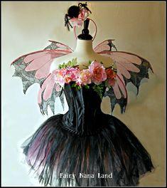 Adult Fairy Costume - size Medium - The Spider Rose Faerie - Dark Fairy. $325.00, via Etsy.