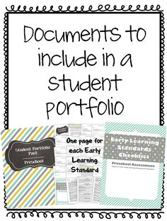 What is included in a portfolio