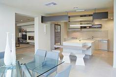 Modern Kitchens, modern joinery, unique island bench, creative kitchen inspiration, neutral colour scheme