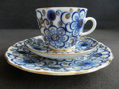 LOMONOSOV Mokkagedeck Dekor Winden Kobaltblau von abrakadabra5910
