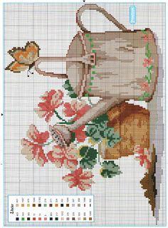 Cross Stitch House, Cross Stitch Tree, Cross Stitch Alphabet, Cross Stitch Flowers, Cross Stitch Charts, Counted Cross Stitch Patterns, Cross Stitch Designs, Cross Stitch Embroidery, Embroidery Patterns