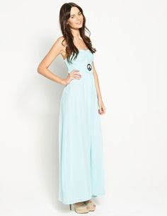 6a414314a6 Plaited Bodice Maxi. Strapless detailed bodice with a soft chiffon long  maxi skirt. From