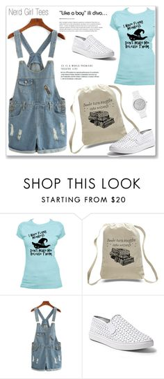 """""""Nerd Girl Tees"""" by amra-mak ❤ liked on Polyvore featuring Steve Madden, Michael Kors and nerdgirltees"""