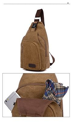 For Men and Women Body Cross bag Hiking Cycling Bag Sling Pack with Adjustable Shoulder Strap Mini Chest Bag Shoulder Sling Bag Mini-Bag  This bag can be used as shoulder, messenger or chest bag. With the Perfect size medium sling bag and you can enjoy different experiences.. At least four wearing styles: over-the-shoulder, cross body, chest carry, and hand carry HIGH QUALITY CANVAS: It is very durable and with maximum lifespan and different colors for your choices HIGH QUALITY CANVA..