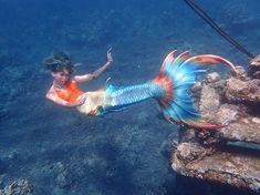 Mermaid Swim Tail, Mermaid Cove, Mermaid Swimming, Mermaid Art, Real Mermaids, Mermaids And Mermen, Braid Buns, Professional Mermaid, Mermaid Names