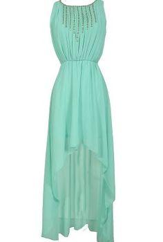 Rock Candy Chiffon High Low Dress in Mint
