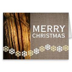Rustic Snowflakes Christmas Greeting Card