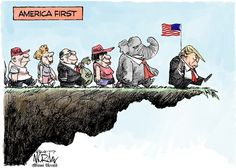 Lemmings off a cliff!!  If they want to follow & protect this incompetent, let them BUT..  🇺🇸Don't let them take the US Constitution with them🇺🇸  !! 2018 & 2020 are coming !!