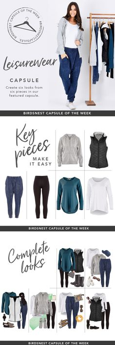 Leisurewear Capsule Wardrobe by Birdsnest Australia #capsulewardrobe