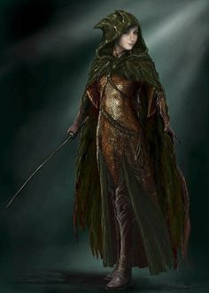 "Concept art of Tauriel in armor with hood from ""The Hobbit: Desolation of Smaug"" (2013). Description from pinterest.com. I searched for this on bing.com/images"