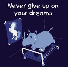 Never Give Up on Your dreams Share the Way - http://share-the-way.com/ Sports Training