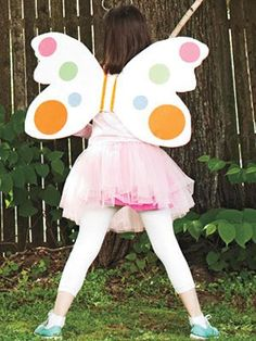 Send kids fluttering around the neighborhood in this easy-to-make disguise