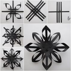 quilling paper weave snowflake