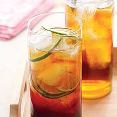 Try this pomegranate and lime iced tea at your next cookout