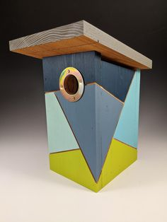 Your place to buy and sell all things handmade Bird Houses Painted, Decorative Bird Houses, Bird Houses Diy, Bird House Feeder, Bird Feeders, Birdhouse Designs, Birdhouse Ideas, Modern Birdhouses, Homemade Bird Houses