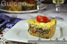 Receita de Torta de Bacalhau e Berinjela