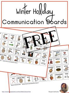 AAC users need to be able to talk about what is topical. Give them these core word based picture communication boards for Hanukah and Christmas so they can talk about the holidays, too.