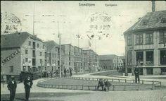 Sør-Trøndelag fylke Trondheim TRONDHJEM, Fjordgaten. Uvanlig motiv fra Ravnkloa og østover Tyskprod.. Postgått 1915