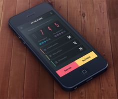 20 Flat Mobile UI Designs For Your Inspiration — Loyalty App Dashboard by Plat4M
