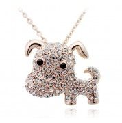 Korean Stylish Necklace Pendant With Cute Diamond Dog Diamond Dogs, Korean Jewelry, Crystal Collection, Gold Plated Necklace, Jewelry Gifts, Best Gifts, Fashion Jewelry, Jewelry Making, Pendant Necklace