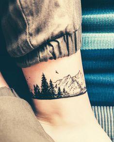 🌲⛰ #explore #nature #tattoo #notreal #selfmade #lookingforwardforsummer