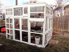 3 Easy DIY Greenhouses for Under $300 : TreeHugger I love the idea of a green house made out of windows!