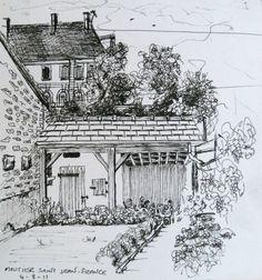 Moutiers Saint Jean, Bourgogne, France - 2011    Ink pen on paper