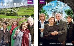 LAST TANGO IN HALIFAX SEASONS 1 & 2. Childhood sweethearts Alan and Celia, both widowed and in their 70s, fall for each other all over again when they are reunited on the internet after nearly 60 years. http://highlandpark.bibliocommons.com/search?utf8=%E2%9C%93&t=smart&search_category=keyword&q=tango+halifax&commit=Search