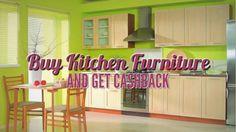 Buy Kitchen Furniture and Get Cashback