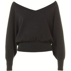 Black Off the Shoulder Sexy Ladies Warm V Neck Plain Pullover Sweater ($26) ❤ liked on Polyvore featuring tops, sweaters, black, v-neck tops, v-neck sweater, sexy tops, v neck sweater and v neck pullover