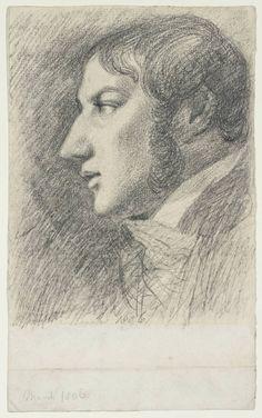 John Constable (English, Self-Portrait, Graphite on paper, 19 x cm. Portraits, Portrait Art, Famous Artists, Great Artists, Artist Pencils, Tate Gallery, Pencil Painting, Digital Museum, London Art