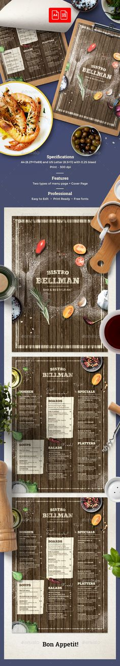#Cafe #Menu - #Food Menus Print Templates Download here:  https://graphicriver.net/item/cafe-menu/20353685?ref=alena994