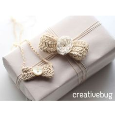 Learn how to crochet this delicate bow.  Perfect to give; perfect to keep!
