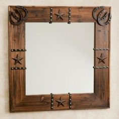 30 DIY Rustic Mirror for Bedroom Decorating Ideas 31 Western Bedroom Decor, Western Rooms, Western Decor, Country Decor, Rustic Decor, Western Curtains, Western Bedding, Western Furniture, Farmhouse Furniture