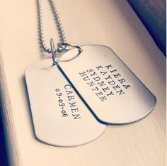 Personalized Dog Tags in Silver More Stylish Dog Tags by River Valley Designs | Hatch.co