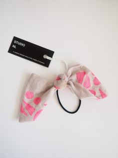 Hair Bow Bobble - violet/neon pink - Little And Fierce