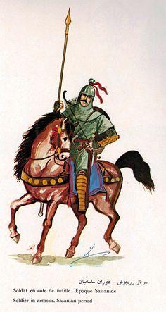 cavalier cote d'émaille d'époque Sanasside