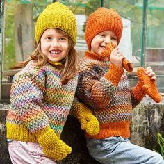 Комплект из шапки и рукавичек - схема вязания спицами.
