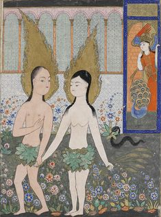 Expulsion of Adam and Eve, Falnama (the Book of Omens)