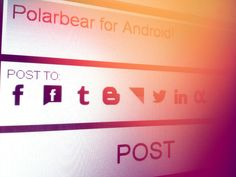 Post to Facebook, Facebook Pages, Tumblr, Blogger, Ifttt, Twitter, LinkedIn and App.net at once! http://www.PolarbearApp.com/android