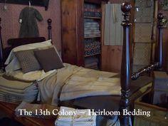 coloni countri, primit bedroom, bedroom idea, countri antiqu, 13th coloni, folk art, farmhous bedroom, country homes, antiques